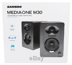 SAMSON G-Track Pro Studio USB Condenser Microphone+Audio Interface+(2) Monitors