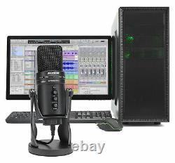 SAMSON G-Track Pro Studio USB Condenser Microphone Mic+Built in Audio Interface