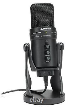 Samson G-Track Pro USB Microphone with Built-In Audio Interface, Black