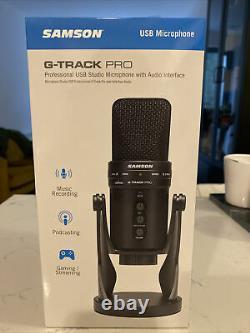 Samson G-Track Professional USB Studio Microphone With Audio Interface