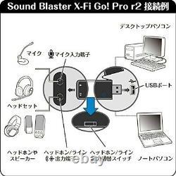 Sound Blaster X-Fi Go Pro r2 Creative USB audio interface SB-XFI-GPR2 from JAPAN
