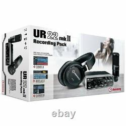 Steinberg UR22 MkII Recording Pack with Interface, Headphones, Mic & Cubase AI