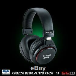USB Audio Interface 3rd Gen Focusrite Scarlett Solo Studio Mic Headphones Cables