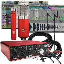 USB Audio Interface with Pro Tools Focusrite Scarlett 18i8 (2nd Gen) First