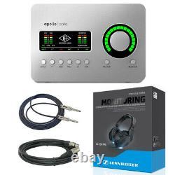 Universal Audio Apollo Solo USB Desktop 2x4 USB Type-C Audio Interface + Cables