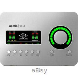 Universal Audio Apollo Solo USB Desktop 2x4 USB Type-C Audio Interface + FREE