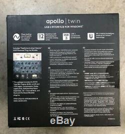 Universal Audio Apollo Twin USB 3 Interface For Windows DUO CORE UAD 2