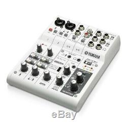 YAMAHA AG06 6 Channel Web Casting Mixer 2 Channel USB Audio Interface AG 06