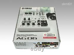 YAMAHA AG06 6-Channel Web Casting Mixer 2 Channel USB Audio Interface JAPAN DHL