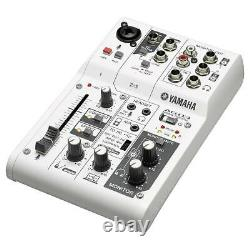 Yamaha AG03 3-Channel Studio Live Mixer & USB Audio Interface with Built-in DSP