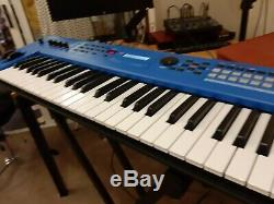 Yamaha MX49 MKII blue boxed with case, built in usb audio interface