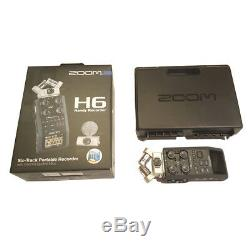 Zoom H6 24-Bit 96kHz WAV/MP3 Handy Audio Recorder withUSB Computer Interface
