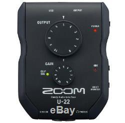 Zoom U22 USB Audio-Interface + keepdrum Kopfhörer